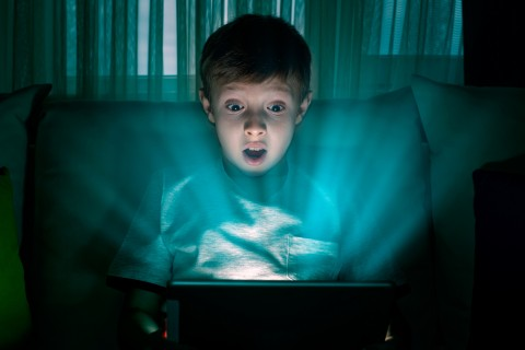 Screens, blue light and children