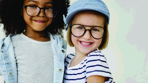 Accommodative support lenses for children