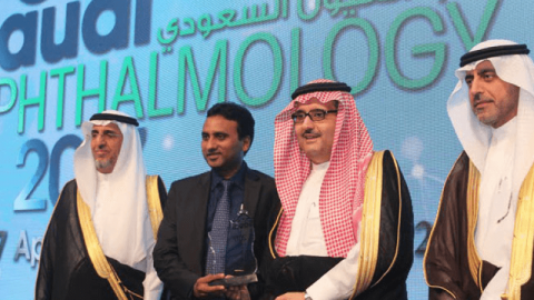 Saudi Ophthalmology Award to Kovin Naidoo for work in childhood blindness and cataract